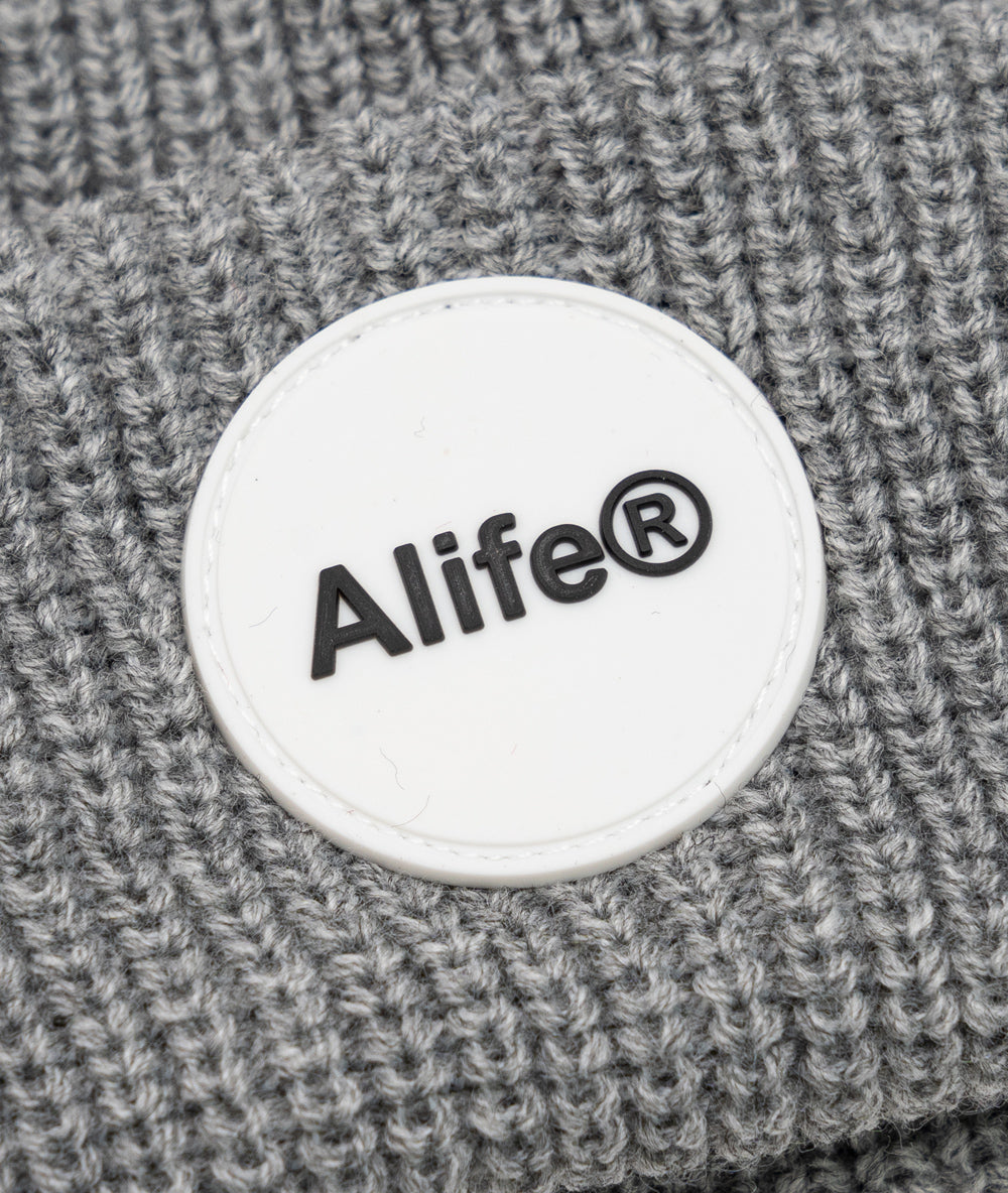 Alife Rubber Patch Beanie - Grey