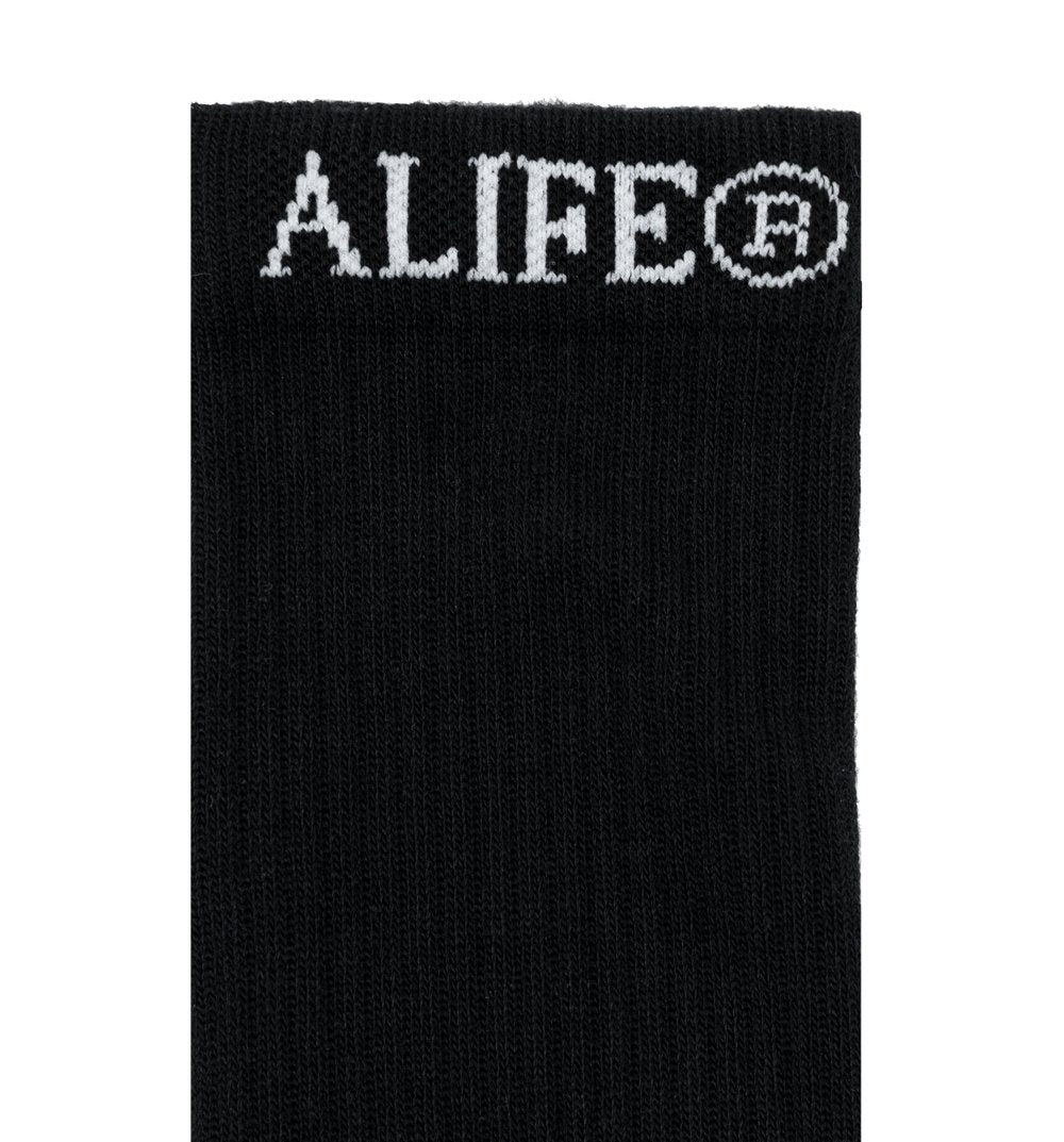 Alife Basic Crew Socks - Black