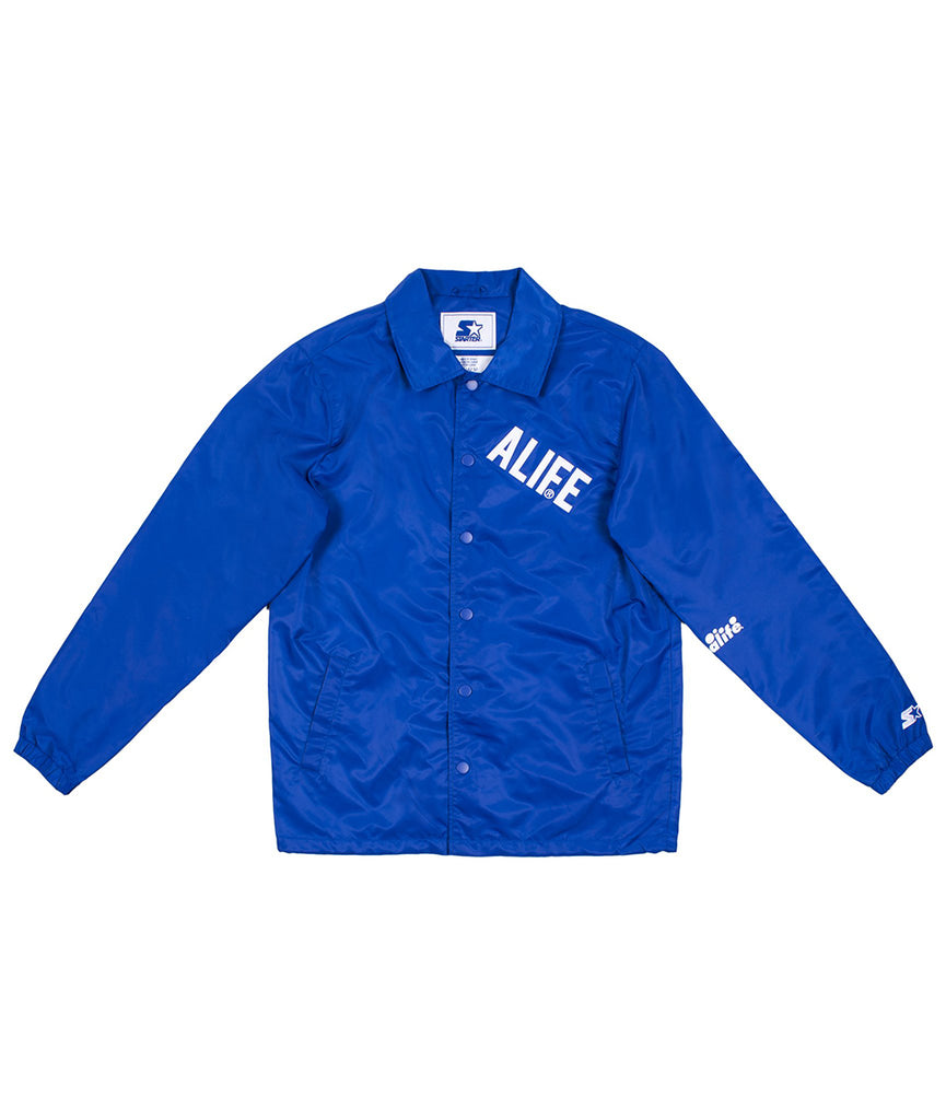 ALIFE® Starter Coaches Jacket in Blue front view