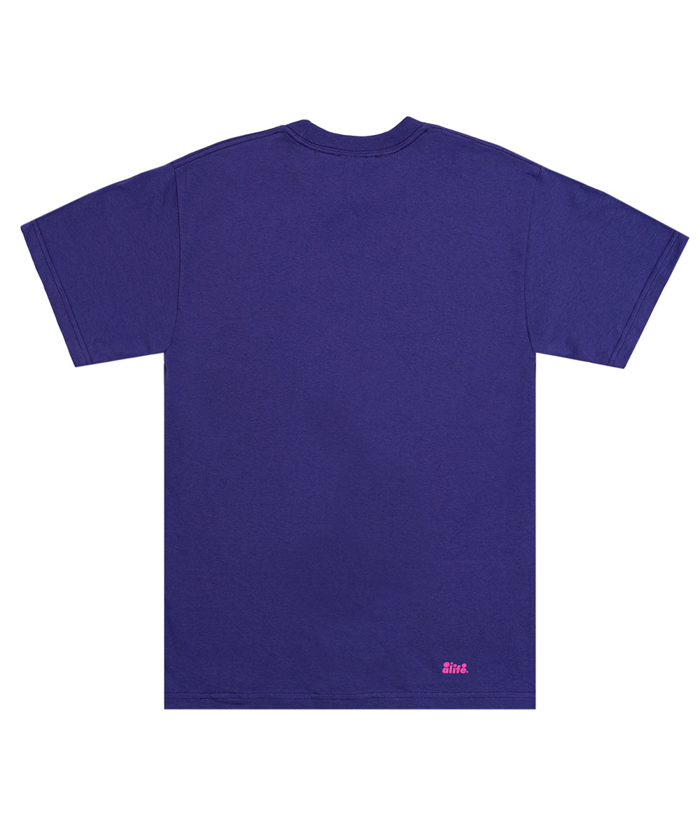 Alife 2 Tone Bubble Logo Tee - Purple