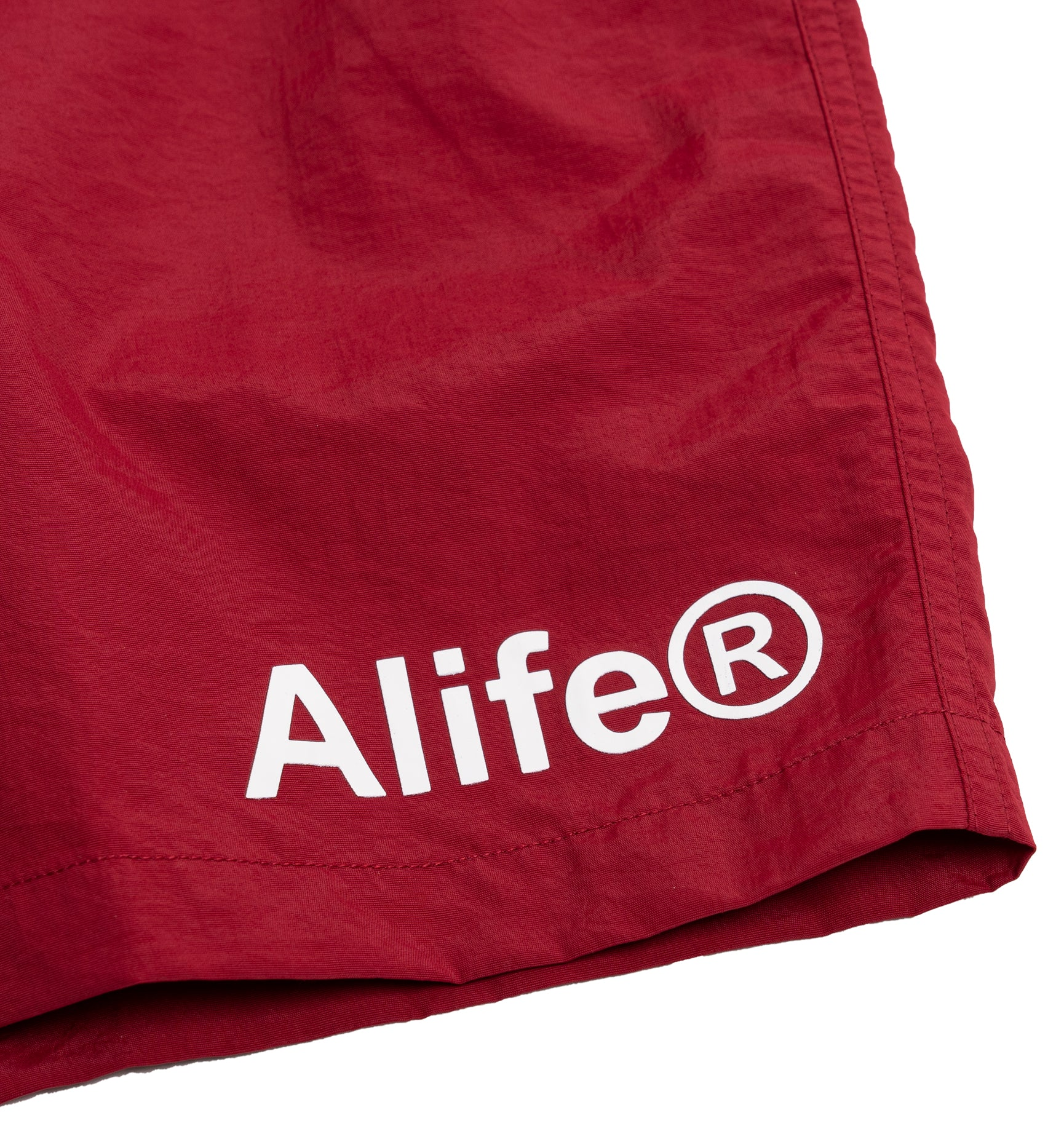 Alife Swim/Run Nylon Short - Maroon