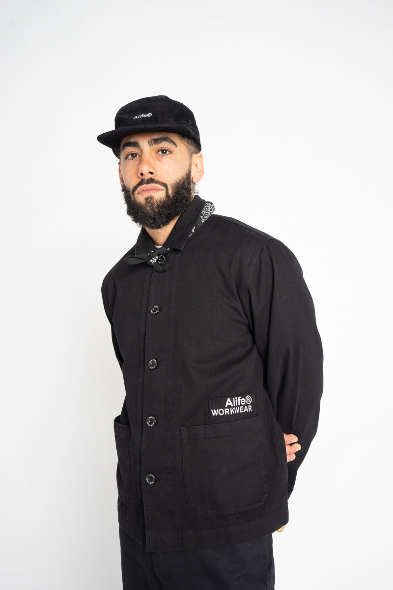 Alife Cropped Chore Jacket - Black
