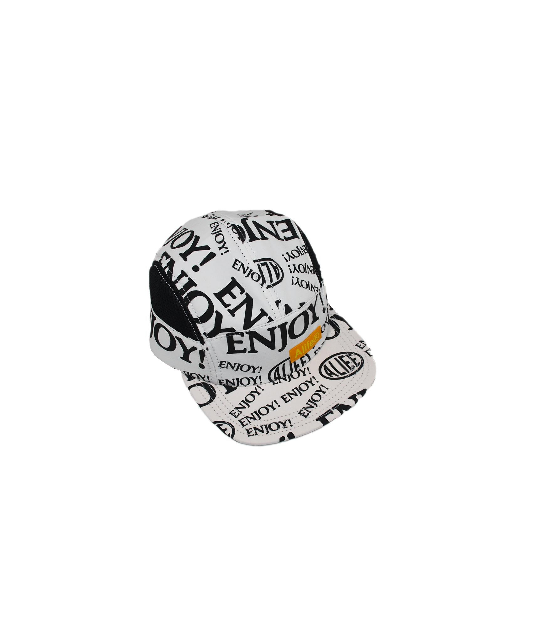 Alife Upcycle Hat - Enjoy! Capsule - White/Black/Yellow
