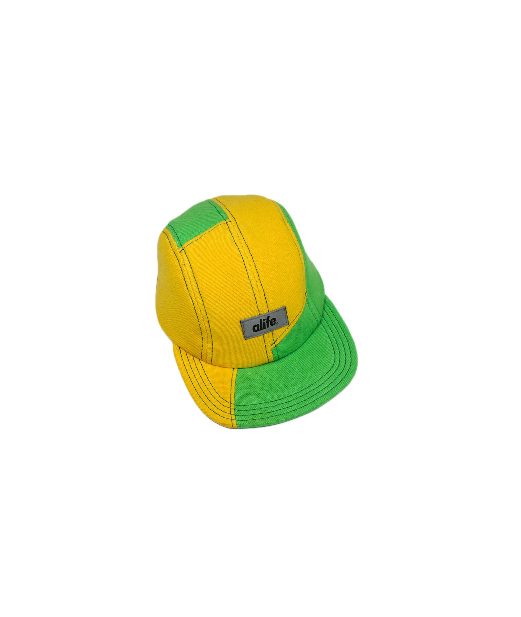 Alife Upcycle Hat - Rubber Patch Crewneck - Yellow/Green
