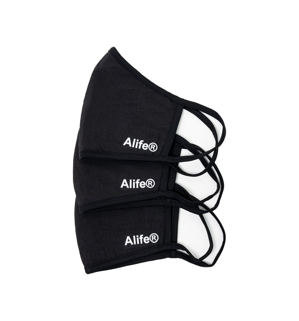 Alife Face Mask 3-Pack - Black