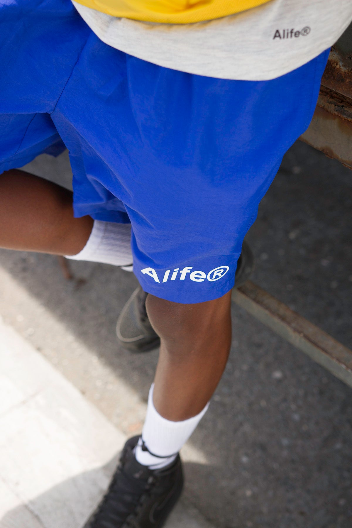 Alife Swim/Run Nylon Short - Blue