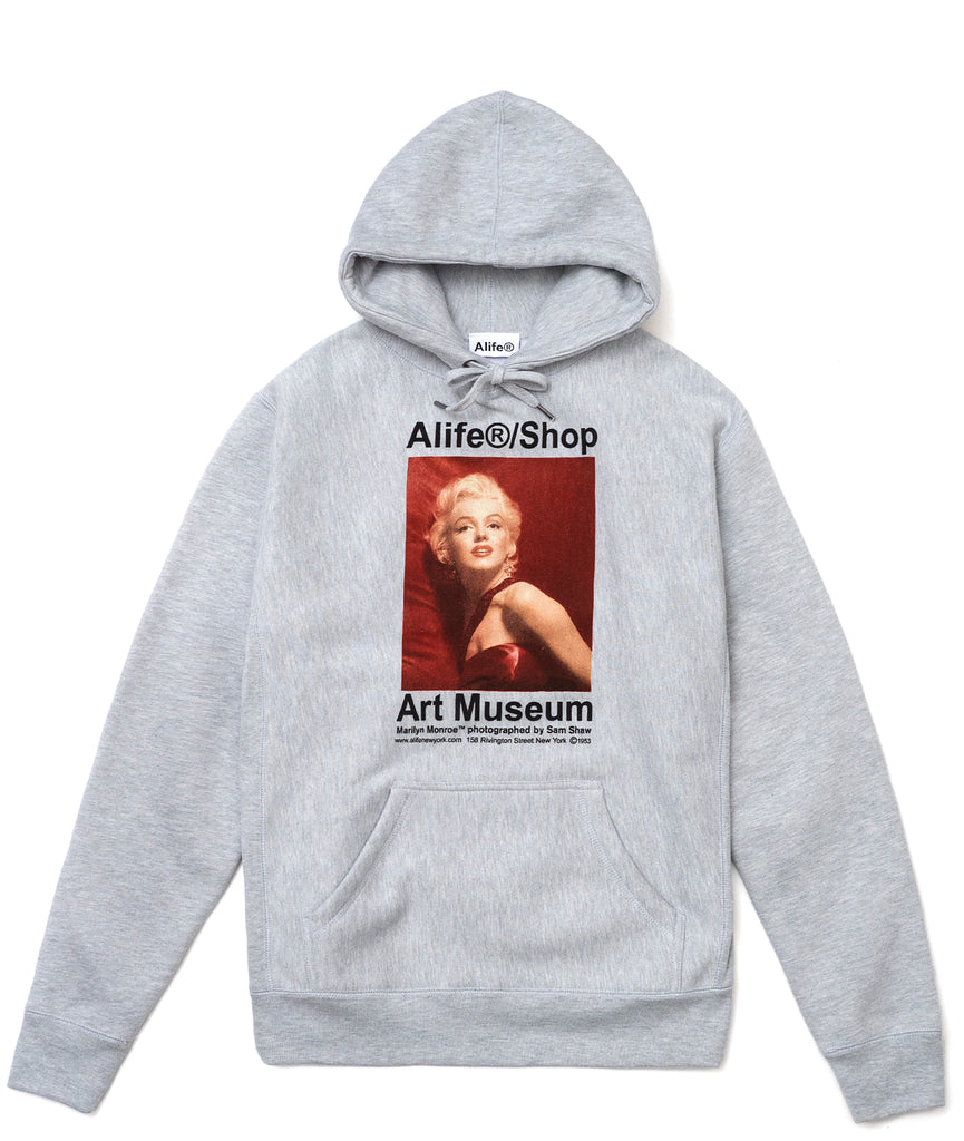 Marilyn Monroe/Sam Shaw Heather Grey Hoodie