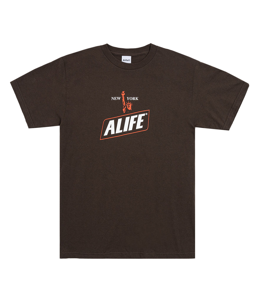Alife® New York Hunger Tee in brown