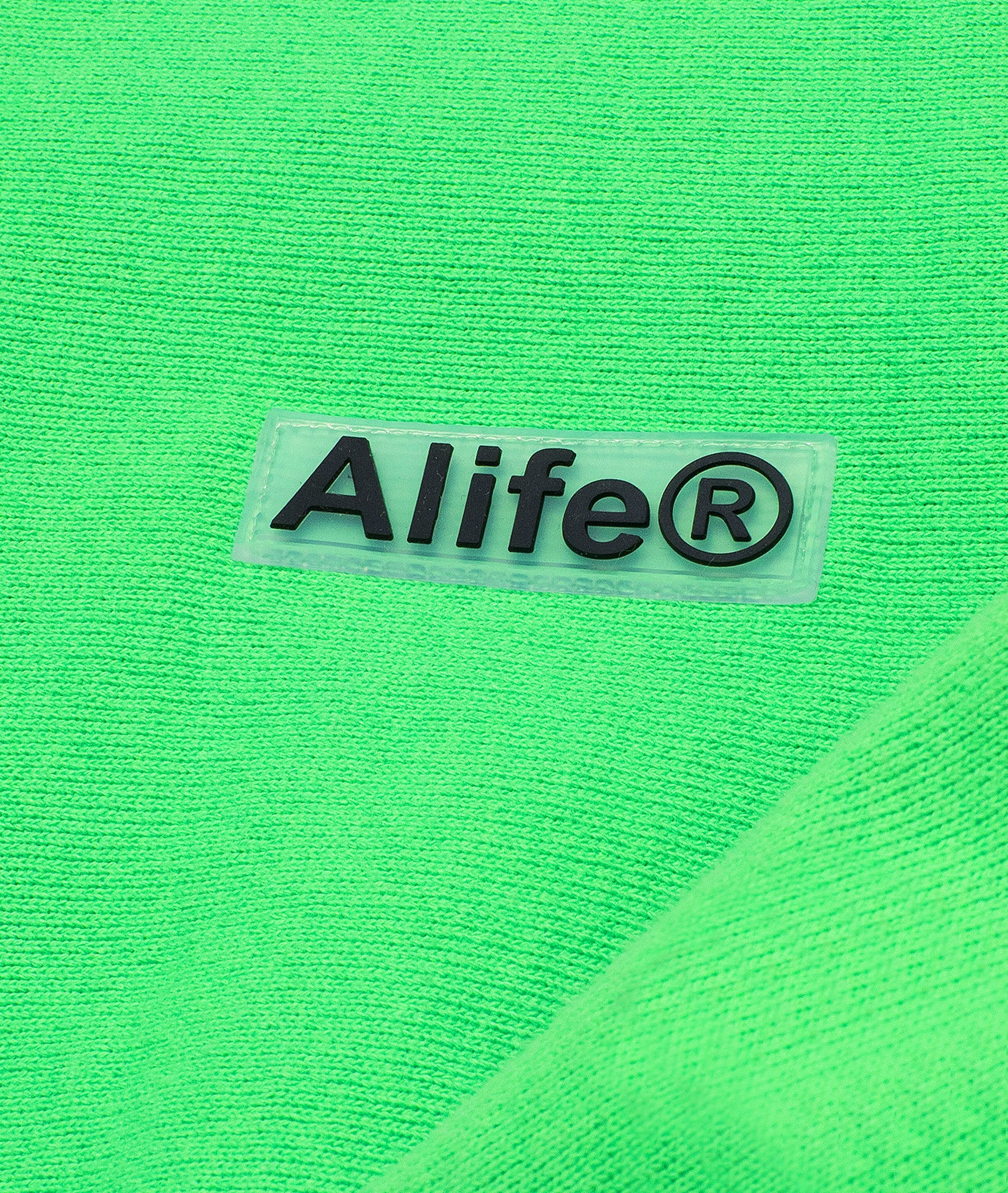 Alife Upcycle Hat - Rubber Patch Crewneck - Green/Yellow