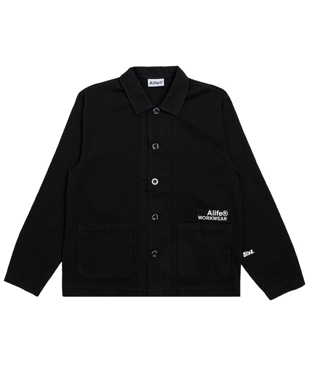 Alife Chore Jacket in Black Front