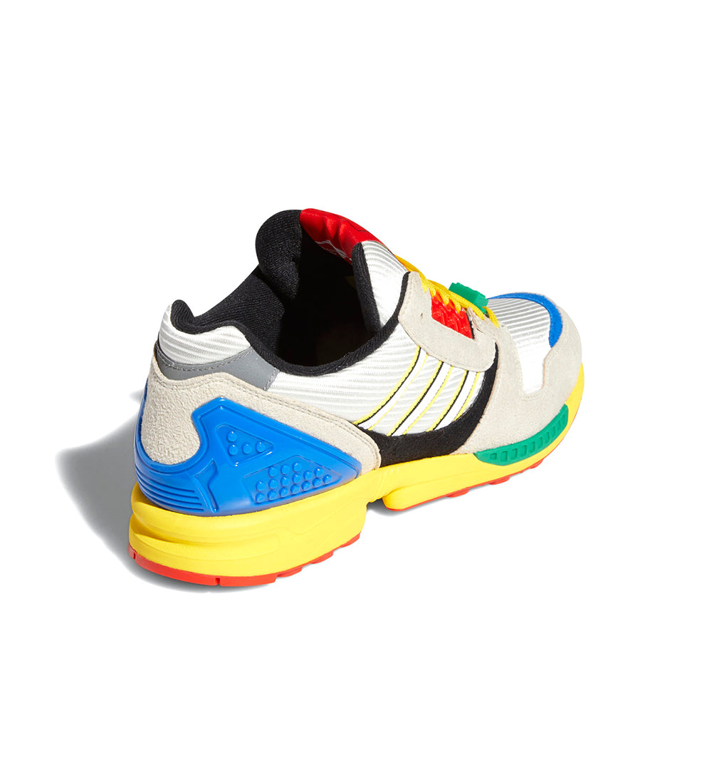 adidas x LEGO ZX 8000 FZ3482 in Yellow/Bliss/Cloud White heel view