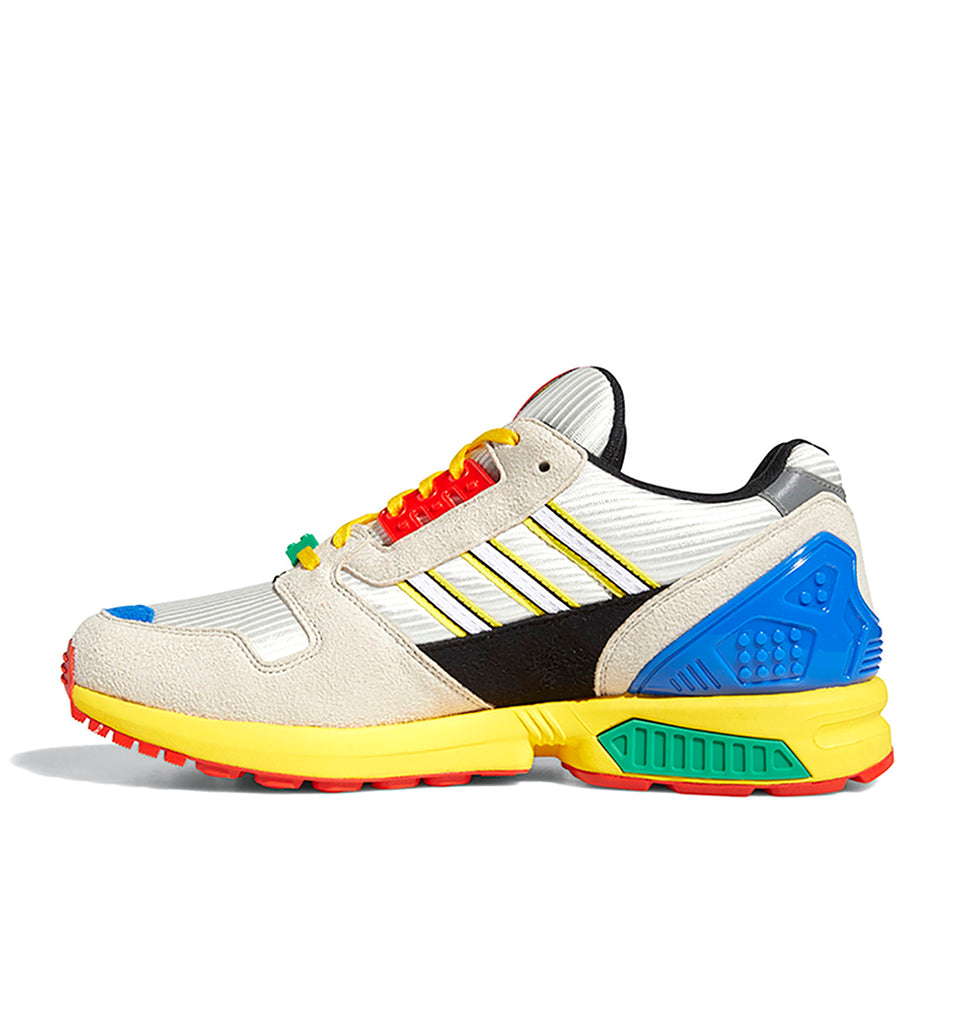adidas x LEGO ZX 8000 FZ3482 in Yellow/Bliss/Cloud White medial view