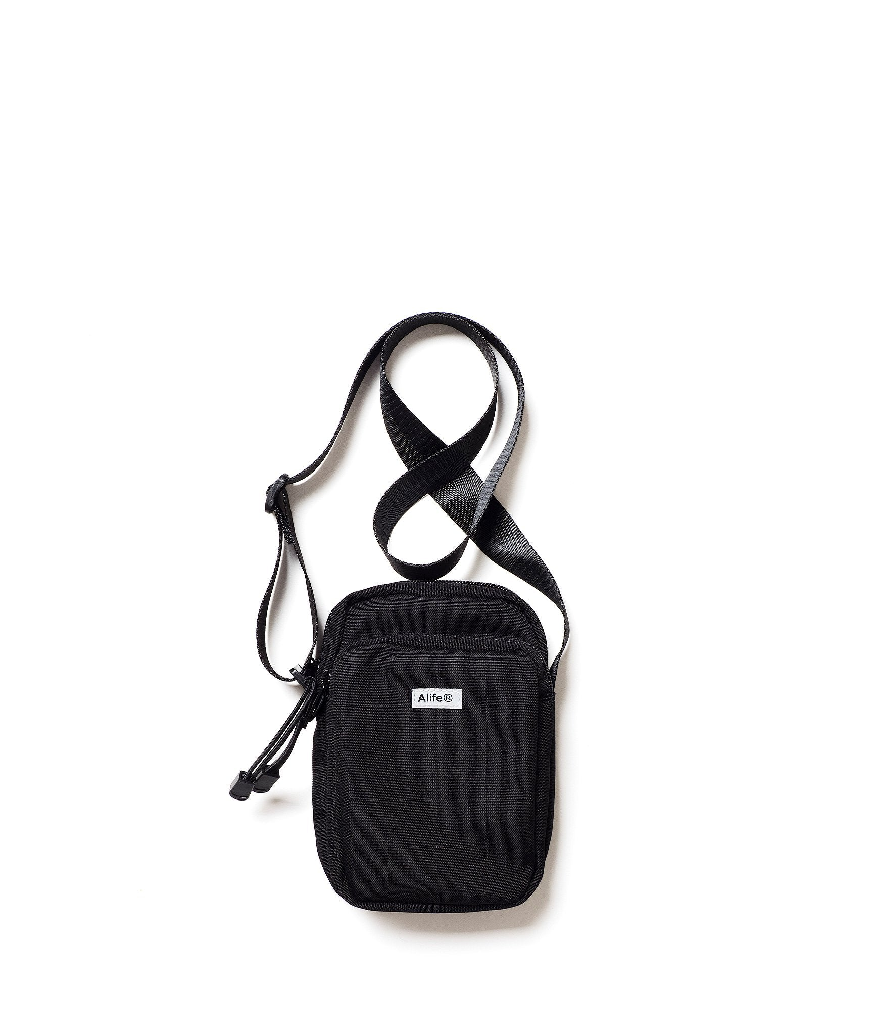 Alife Compact Messenger Bag in black nylon