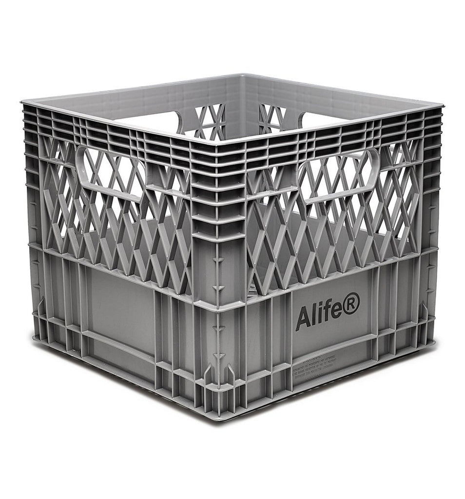 Alife® Milk Crate in angled view
