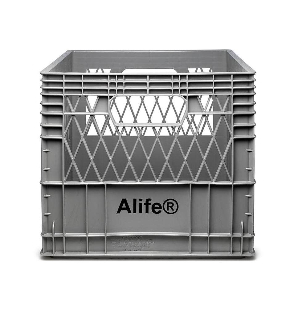 Alife® Milk Crate with front view
