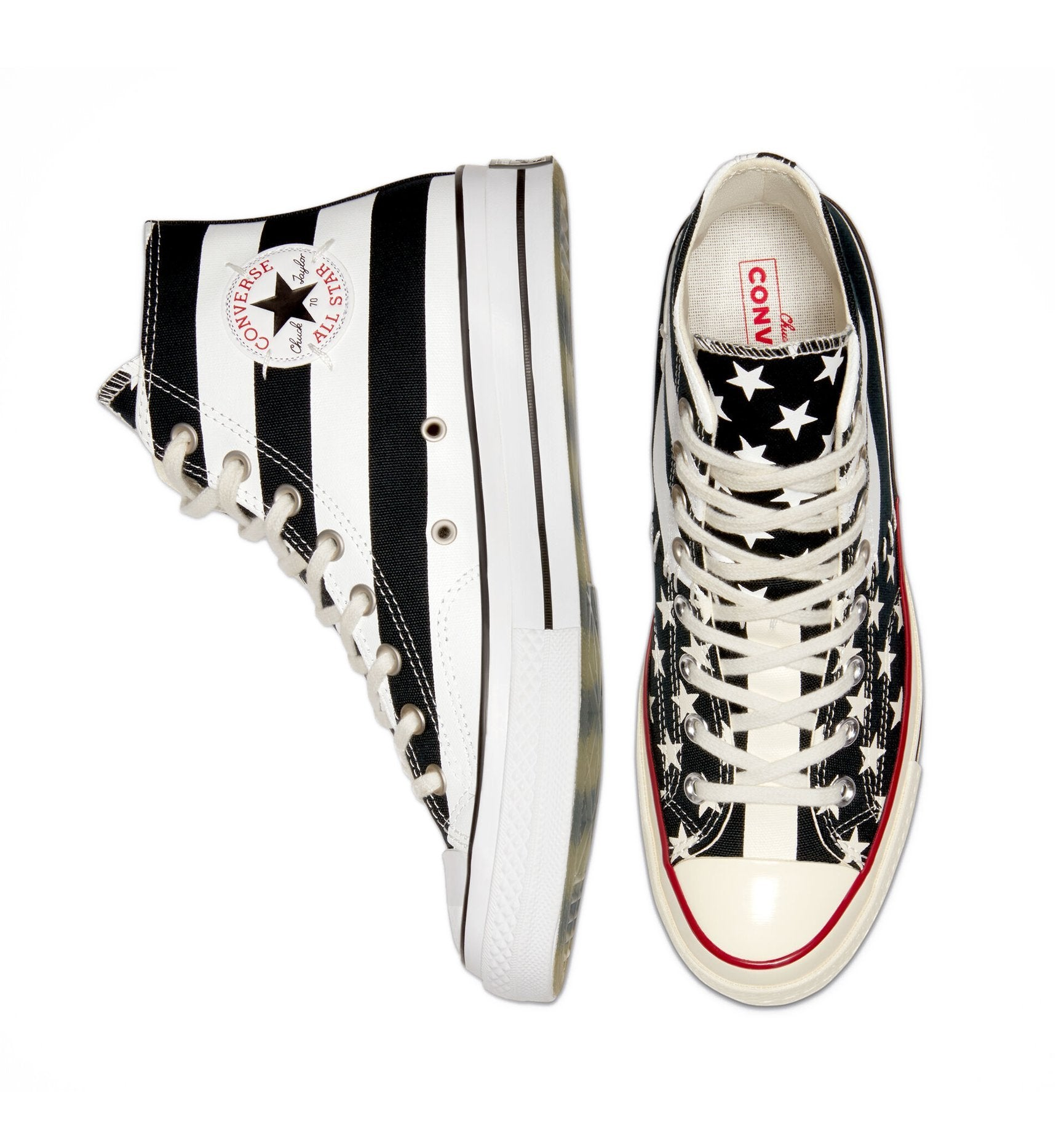 Converse Chuck 70 Restructured Archive Hi - American Flag Black/White