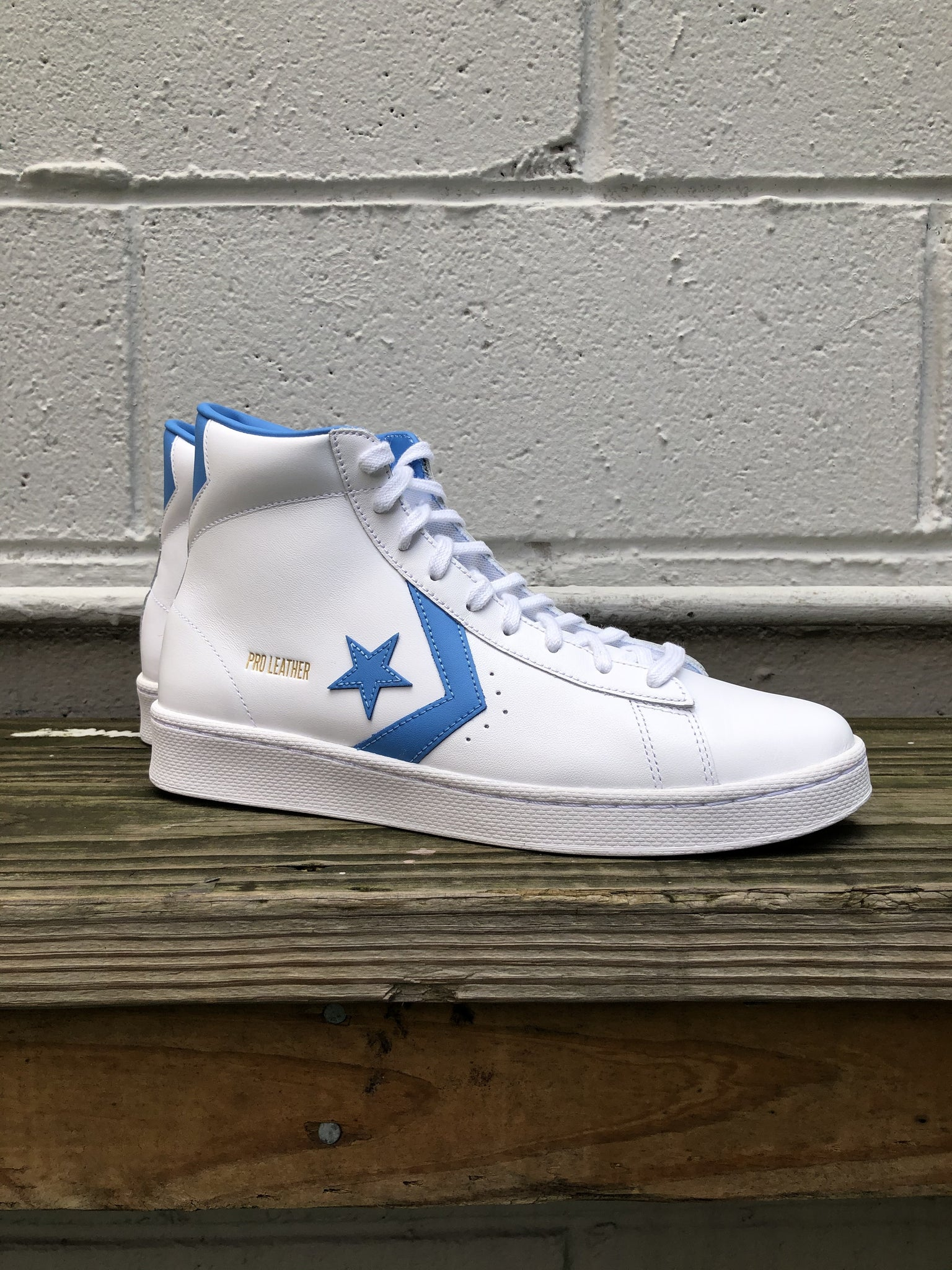 Converse Pro Leather Hi - White/University Blue