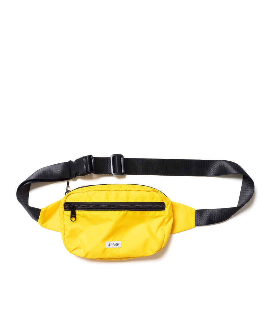 Alife Nylon Waist Bag  or Fanny Pack in Yellow