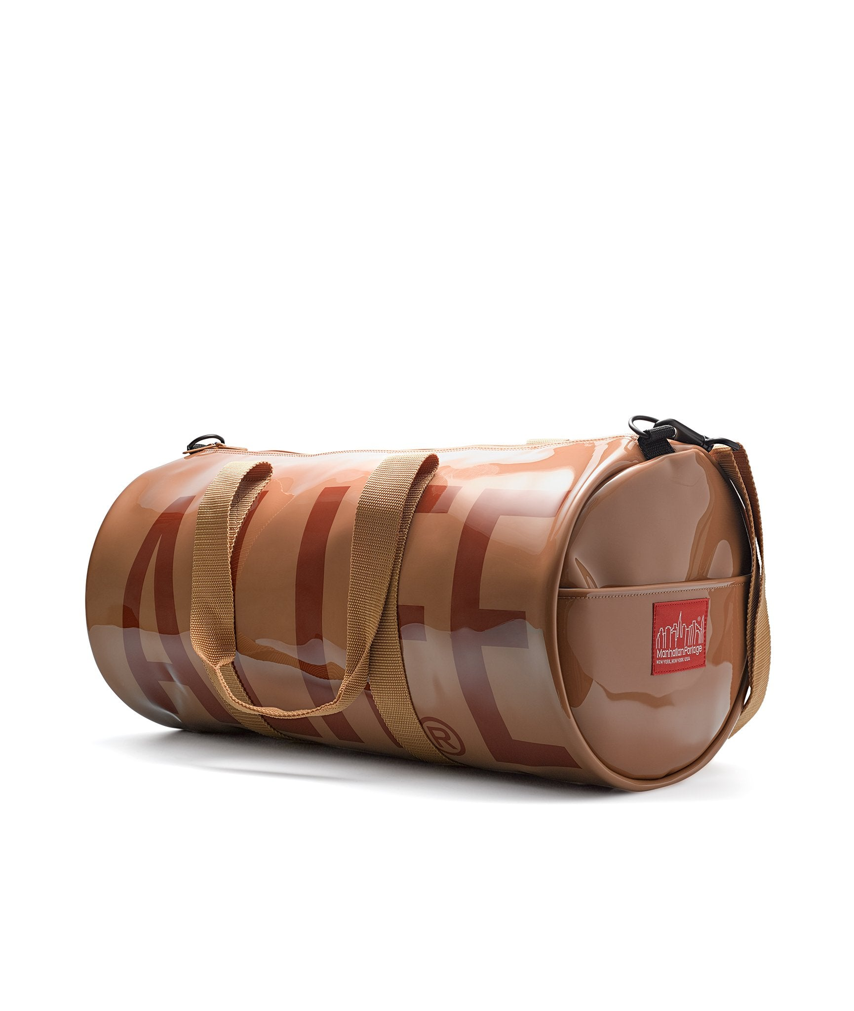 Alife/Manhattan Portage Large Drumbag angled view with straps down