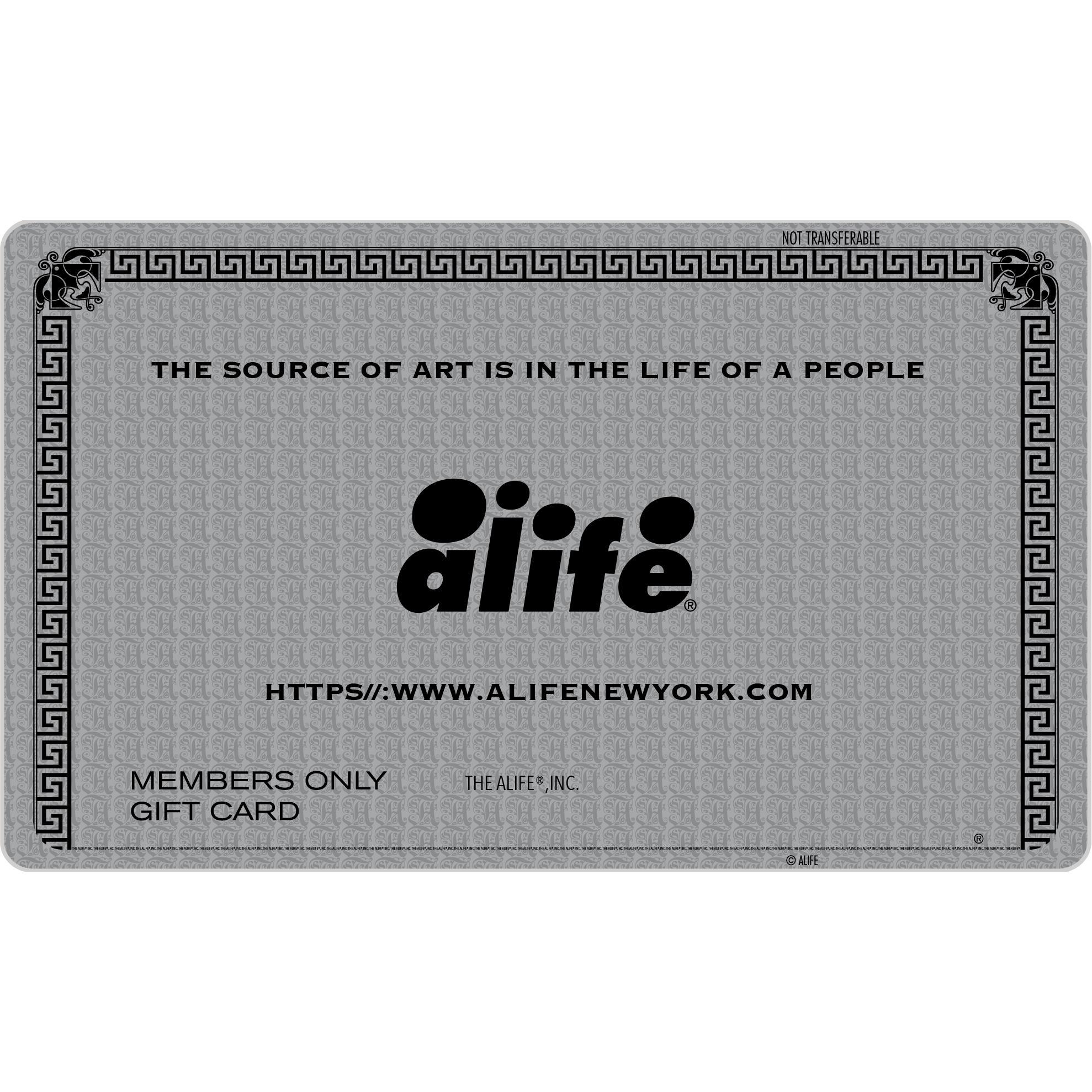 Alife® Gift Card