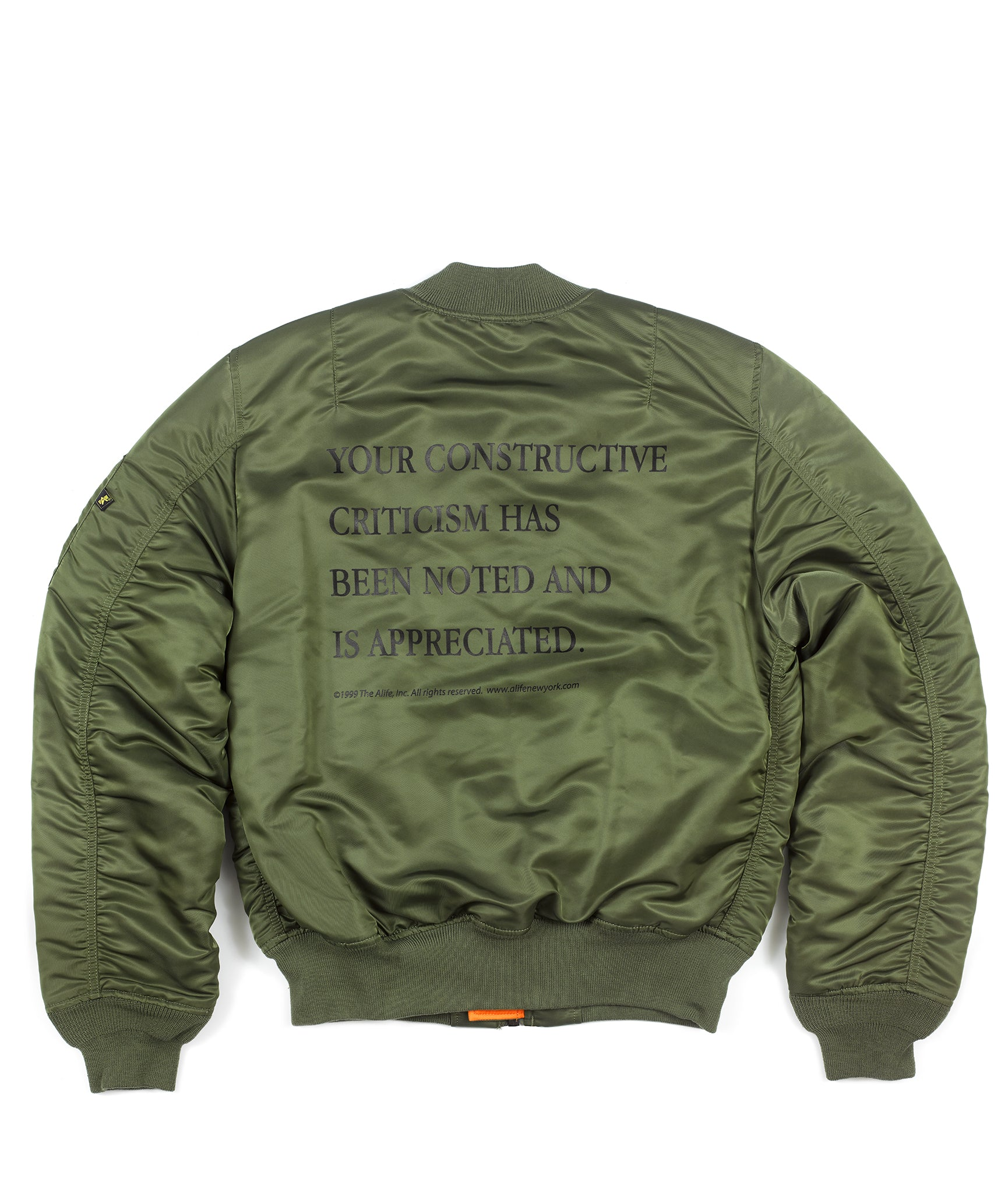 Alife Alpha Industries™ Criticism MA-1 Slim Fit Jacket – Alife® 4a3e6bc1bc19