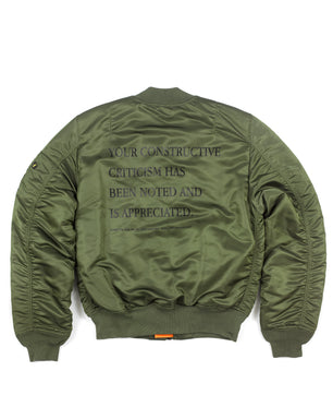 Alife Alpha Industries™ Criticism MA-1 Slim Fit Jacket