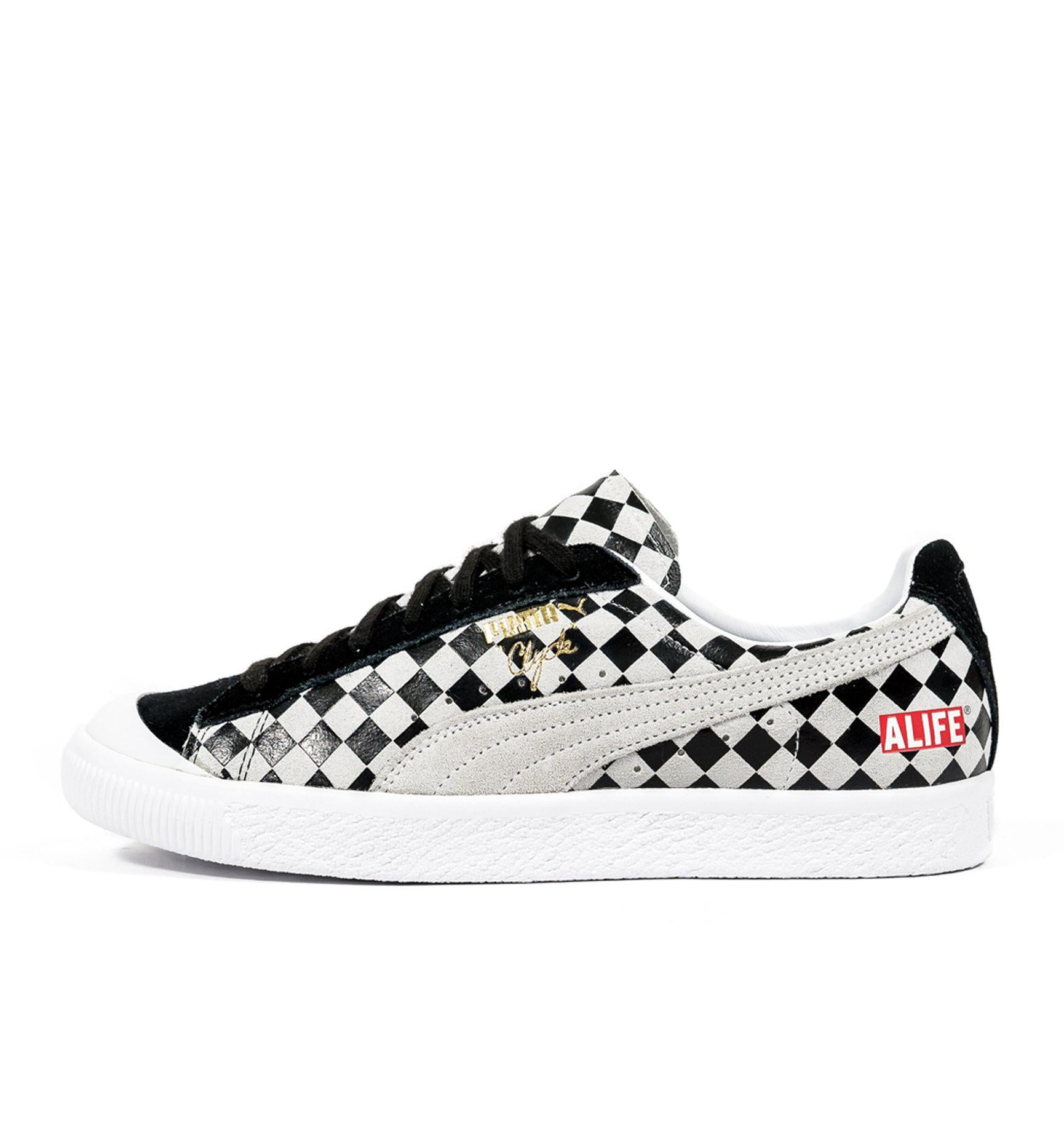Puma Clyde Alife 36598901 in Argyle side view
