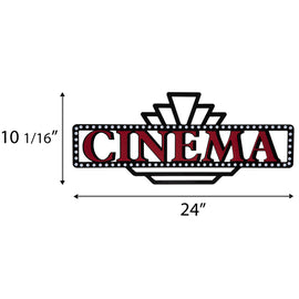 Cinema Marquee Metal Wall Décor. FREE SHIPPING - Artisticspacedecor