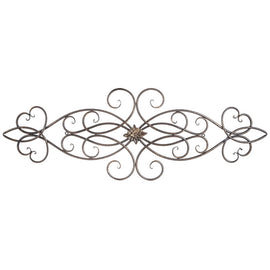 Scroll Metal Wall Decor With Medallion Gorgeous Home Decor - Artisticspacedecor