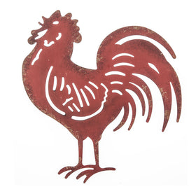 Red Rooster Metal Wall Decor - Artisticspacedecor