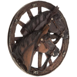 Horse & Wagon Wheel Wall Decor Rustic Western Country Wall Decor. FREE SHIPPING - Artisticspacedecor