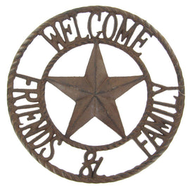 Welcome Friends Round Metal Wall Décor - Artisticspacedecor