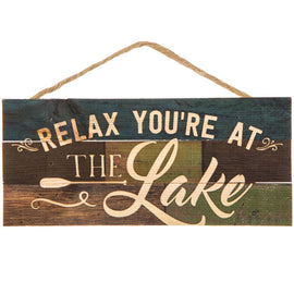 Relax You're At The Lake Wood Wall Décor