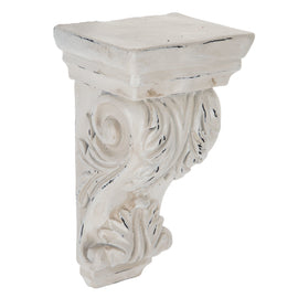 Antique White Ornate Carved Wood Corbel. SET OF TWO - Artisticspacedecor