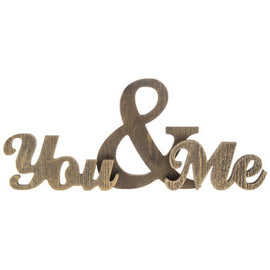 You & Me Chunky Wood Phrase - Artisticspacedecor