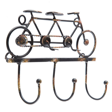 Tandem Bike Metal Wall Decor With Hooks. FREE SHIPPING - Artisticspacedecor
