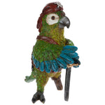 Peg Leg Pirate Parrot colorful Home Accent. FREE SHIPPING - Artisticspacedecor