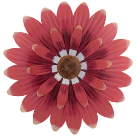 Red Sunflower Metal Wall Decor