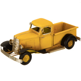 YELLOW PICKUP Metal Vintage TRUCK Farmhouse Decor. FREE SHIPPING