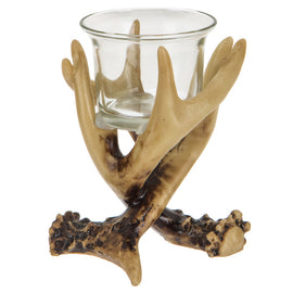 Antler Tea Light Candle Holder , Perfect Décor Scheme. Rustic Cabin Look - Artisticspacedecor