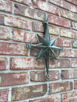 Turquoise Direction Star Cast Iron Wall Decor Nautical Hanging Decor. FREE SHIPPING - Artisticspacedecor