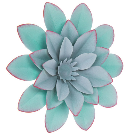 Blue Flower Metal Wall Decor. FREE SHIPPING - Artisticspacedecor