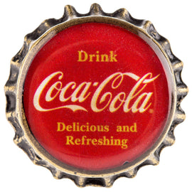 Coca Cola Delicious & Refreshing Bottle Cap Metal Knob. SET OF 2 FREE SHIPPING - Artisticspacedecor
