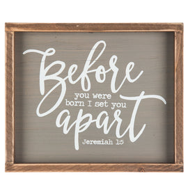Before You Were Born I Set You Apart - Jeremiah 1:5 Wood Decor. FREE SHIPPING - Artisticspacedecor
