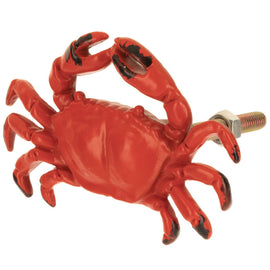 Crab Metal Knob. SET OF 6. FREE SHIPPING - Artisticspacedecor