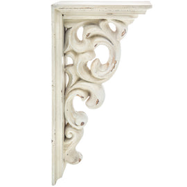 LARGE RUSTIC CORBELS / BRACKETS Distressed Antique White Wood Corbels Set Of 2 - Artisticspacedecor
