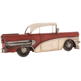 Red Classic Half Car Metal Wall Decor. FREE SHIPPING - Artisticspacedecor