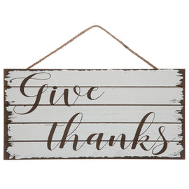 Give Thanks Wood Wall Decor. FREE SHIPPING - Artisticspacedecor