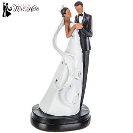 African American Couple Cake Topper. FREE SHIPPING - Artisticspacedecor