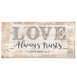 1 Corinthians 13:7 Wood Wall Decor.